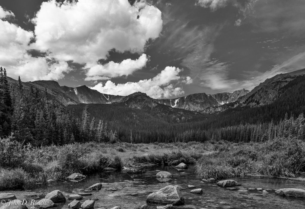 Cirque Meadow in monochrome
