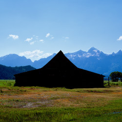 Black Barn and Tetons, 2012
