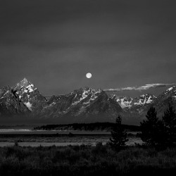 Teton Moonset, July 2012