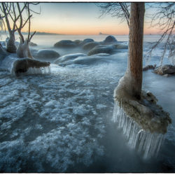 Ice at sunrise #4