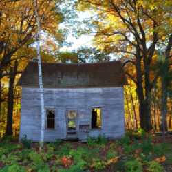 Abandoned house in Fall colors