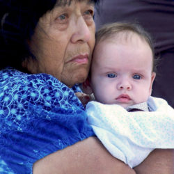 Indian grandmother and baby