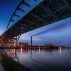 Hoan Bridge at sunrise