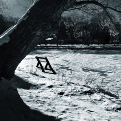 Bench on an Ice Pond