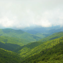 Clouds Over Blue Ridge Mountains