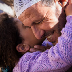 Kissing Grandpa In The Atlas Mountains