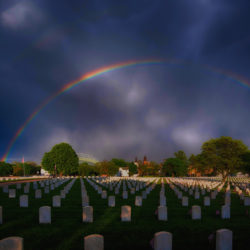 Memorial Day rainbow over the Woods VA cemetery
