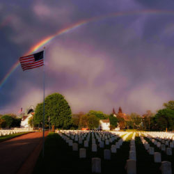 Rainbow #5 at the VA cemetery
