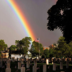 Double rainbow at the VA cemetery