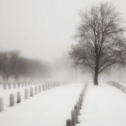 VA cemetery in winter