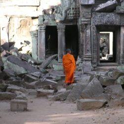 Making Merit, Ta Prohm, Cambodia