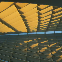 Late afternoon sun under the Brise Soleil at the MAM