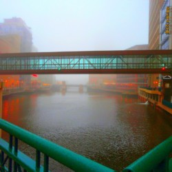 Foggy Riverwalk