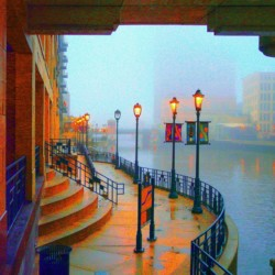 Lighted Riverwalk