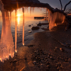 Sunrise with ice #389