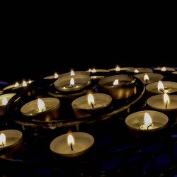 Memorial Candles in Milan