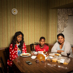 Tuesday: Seynabou, Rui James and Marie. 2014