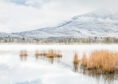 First Snow Vermillion Lake Alberta