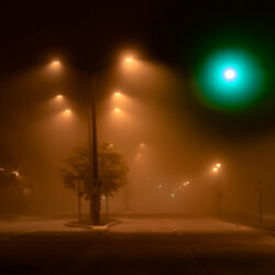 Fog at the intersection